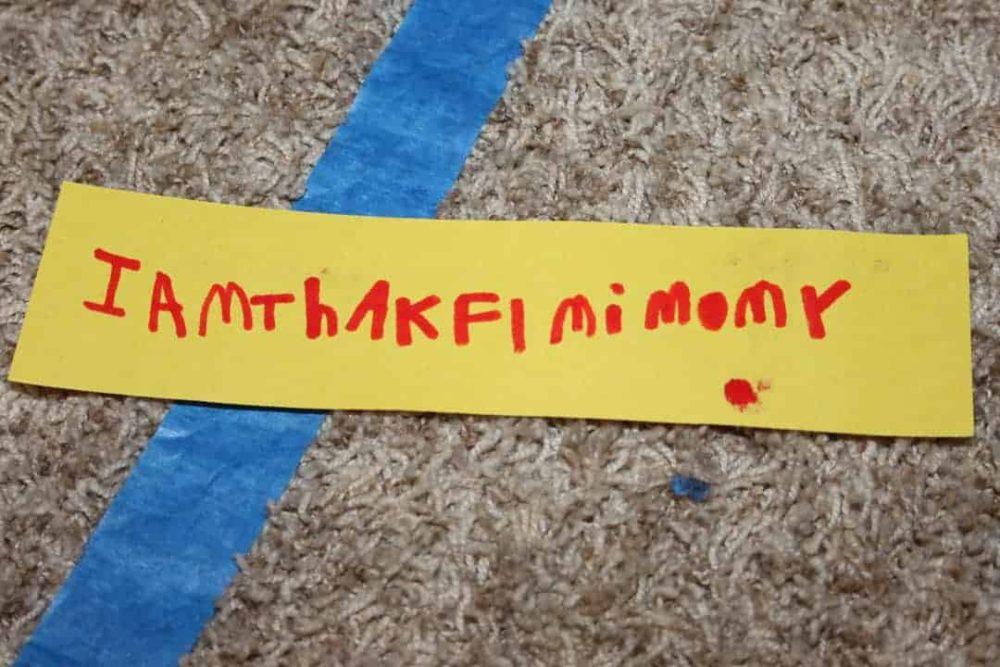 kids sample strip of gratitude