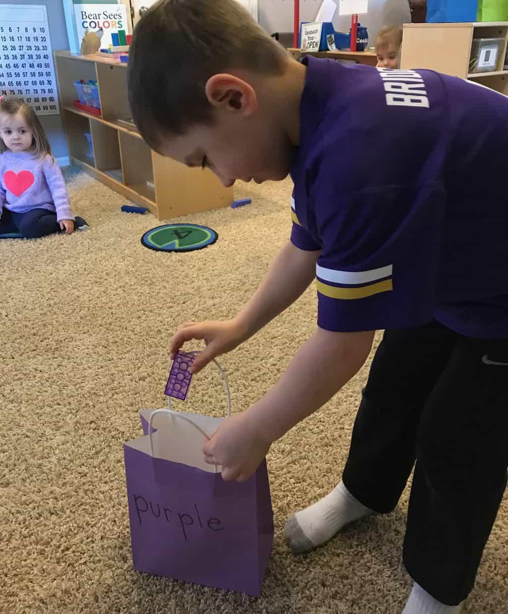 young boy color activities for preschoolers