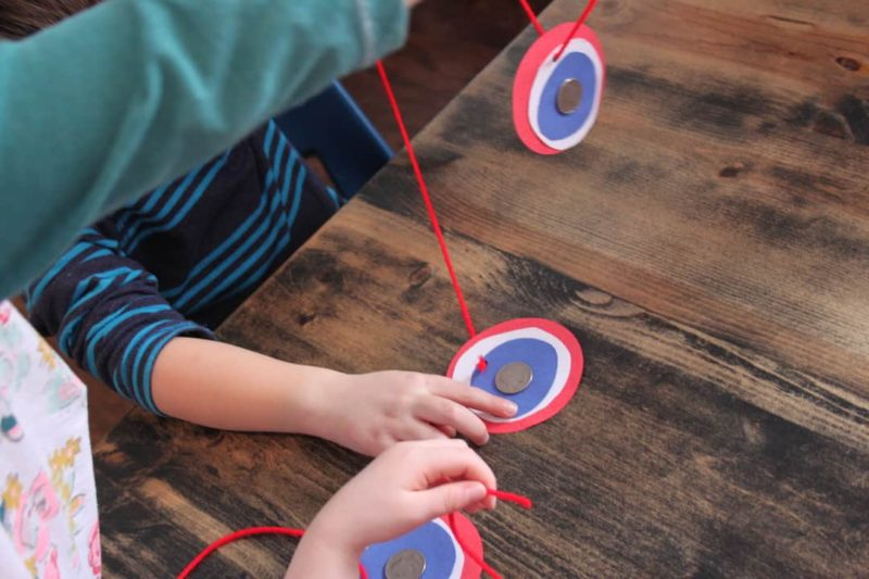 paper coin medallion craft for presidents' day activities for kids