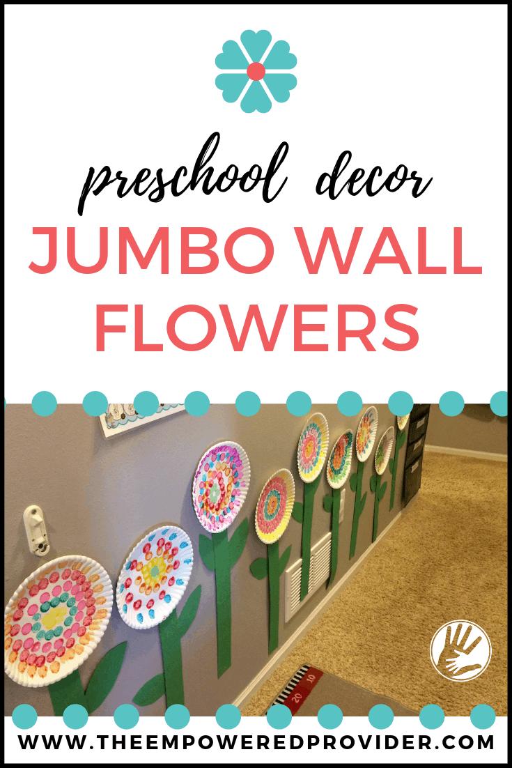 jumbo paper flowers on wall
