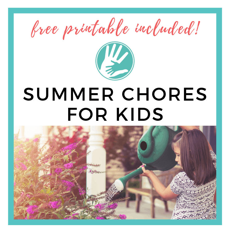 SUMMER CHORE CHART FOR KIDS