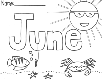 june monthly calendar coloring pages