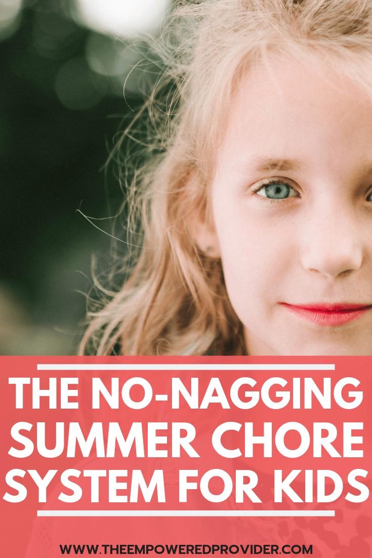 summer chore chart printable