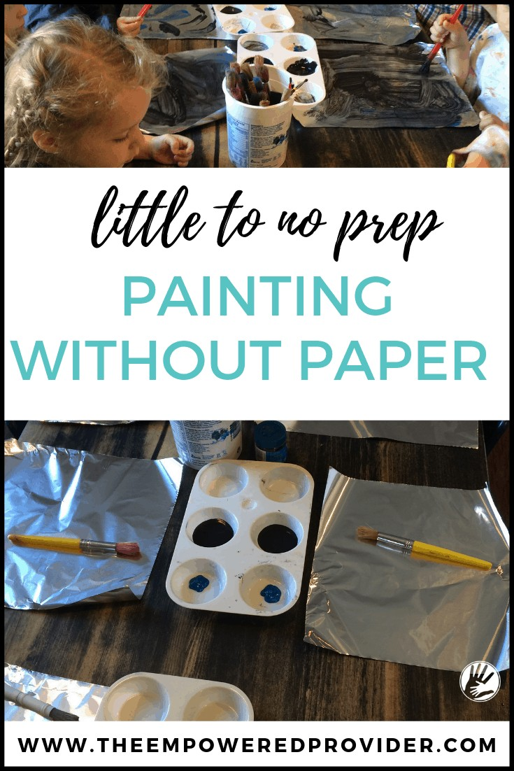 easy foil painting  for kids