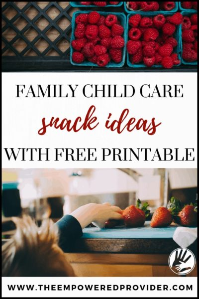 daycare snack menu ideas