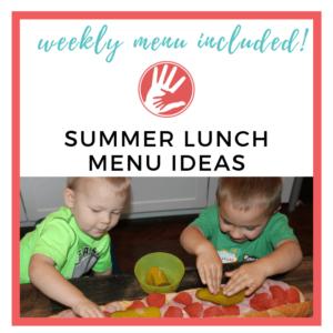summer lunch menu ideas