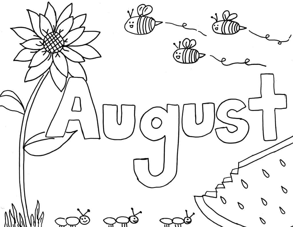 Printable Monthly Coloring Pages