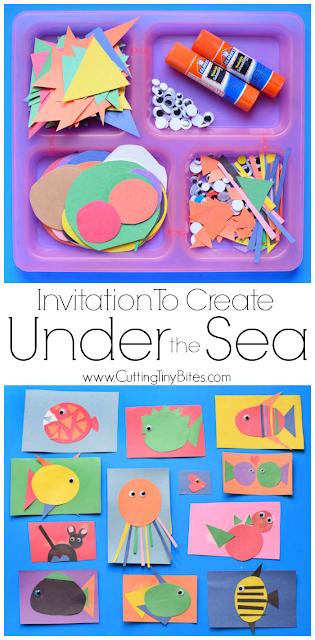 under the sea gluing activities for preschoolers