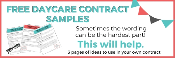 daycare sample contract