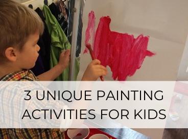 preschool boy painting activities for kids