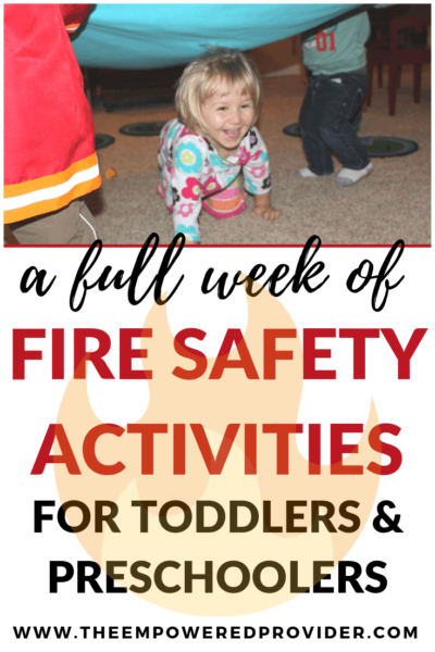 fire safety activities for toddlers and preschoolers
