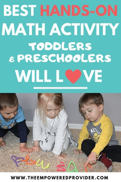 hands on math activity for preschoolers