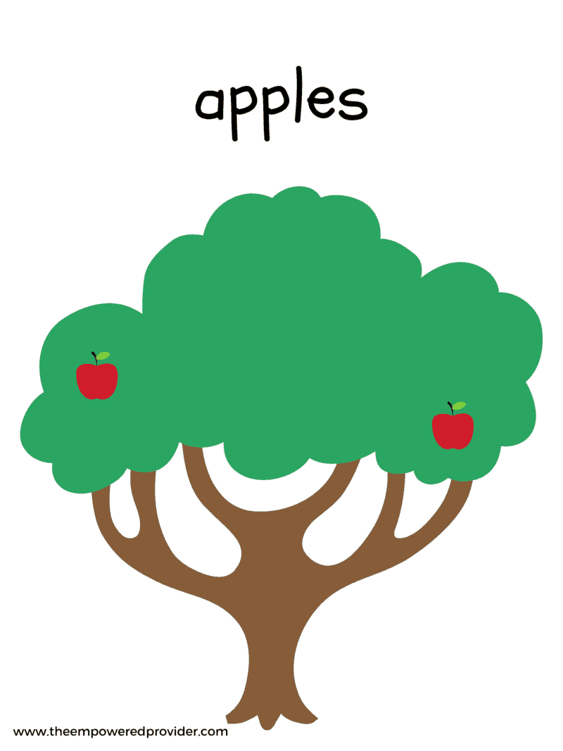 apple tree play dough mat printable
