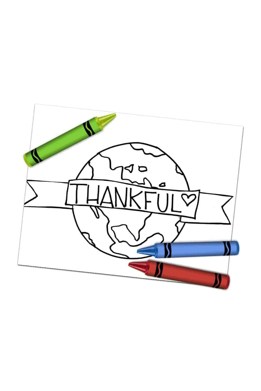 thankful earth coloring page
