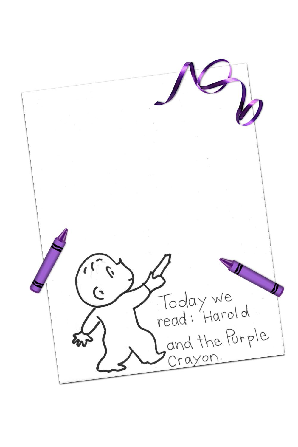 harold and the purple crayon printable
