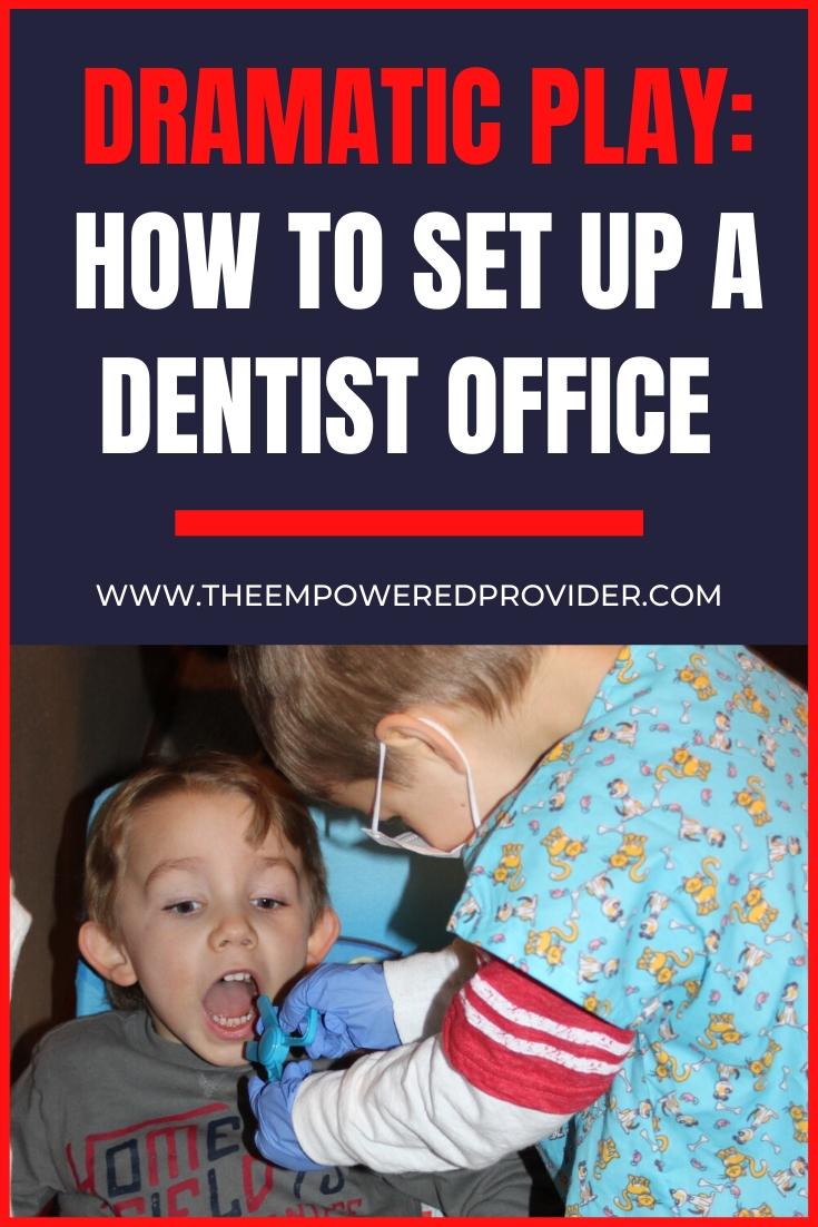 dramatic play scene dentist office