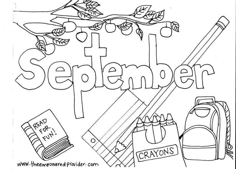 Printable Monthly Coloring Pages The