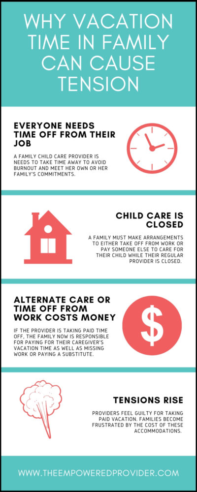 home daycare vacation policy info graphic