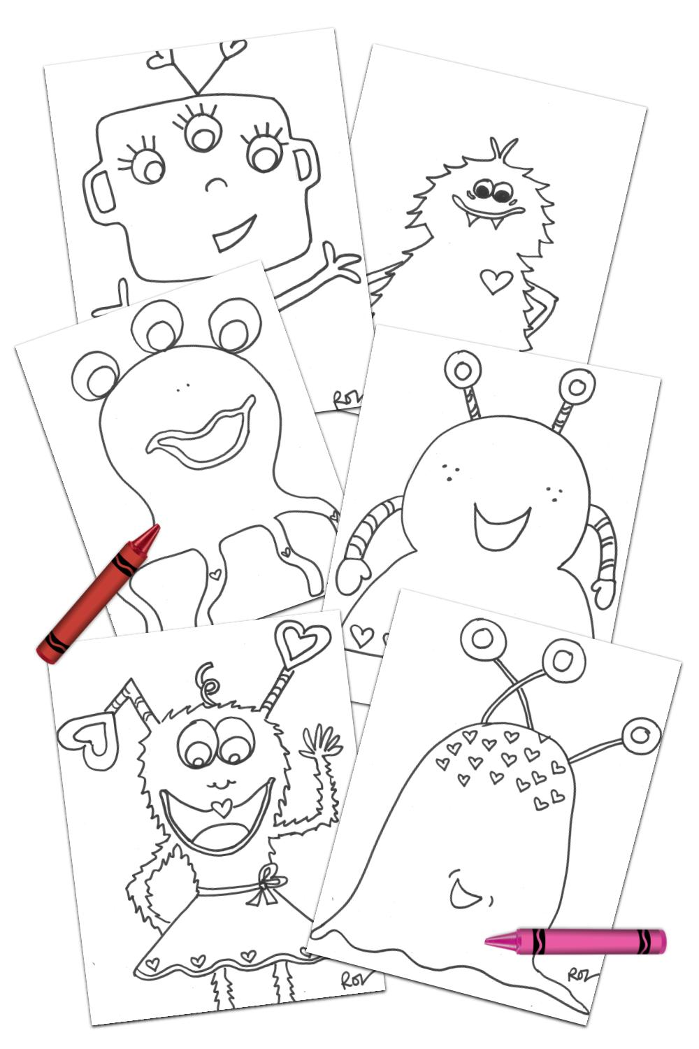 love monster coloring pages