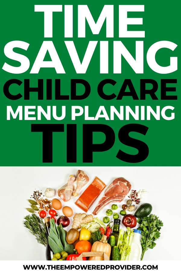 child care meal planning tips and ideas