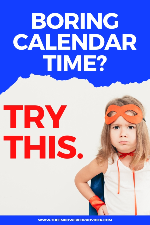 calendar time for preschool